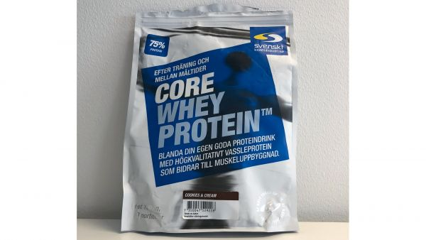 Core whey protein cookies and cream