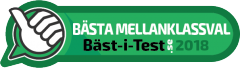 Badge Bästa Mellanklassval 2018.se