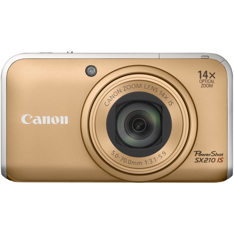Original Canon PowerShot SX210 IS GOLD FRT
