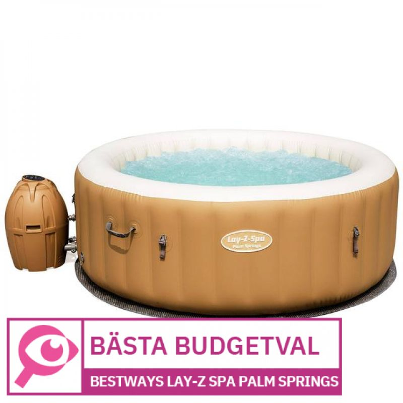 Bestway Lay-z Spa Palm Springs Airjet 								 									- Bästa budgetspabad
